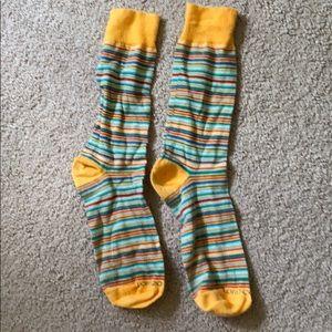 Mans stripy socks
